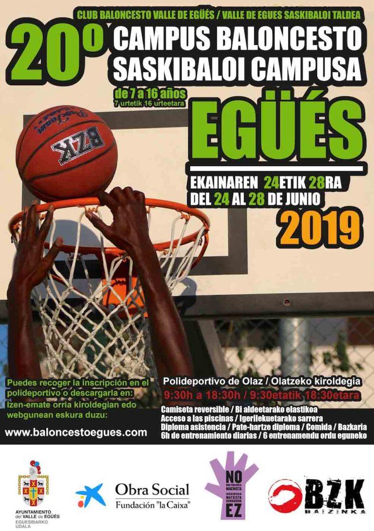 Campus verano baloncesto